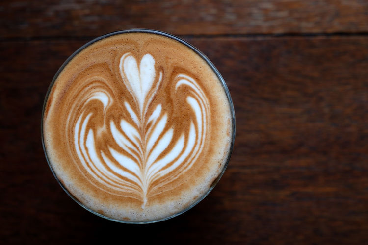 Coffee Coffee - Drink Food And Drink Cappuccino Frothy Drink Froth Art Coffee Cup Drink Still Life Refreshment Hot Drink Mug Cup Latte Creativity Freshness Close-up Table Directly Above Indoors  No People Crockery Non-alcoholic Beverage Floral Pattern