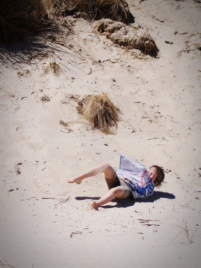 Sand Beach Full Length One Person Rolling Down The Hill Sand Dune Rolling Hill Real People EyeEmNewHere Action Shot  Australian Culture