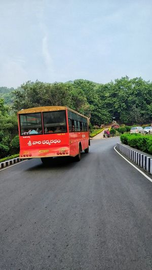 Tirupati Balaji Temple Tirumala Tirupati Devasthanams Journey Tirupati Free Bus Bus Road Tree Bus Land Vehicle Sky