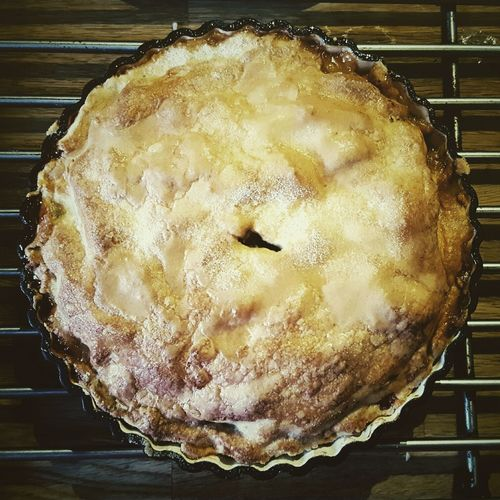 This Is Summer day 31. Homemade Apple Pie Food Ready-to-eat Kids Helped Make It Tasted Good Sharing