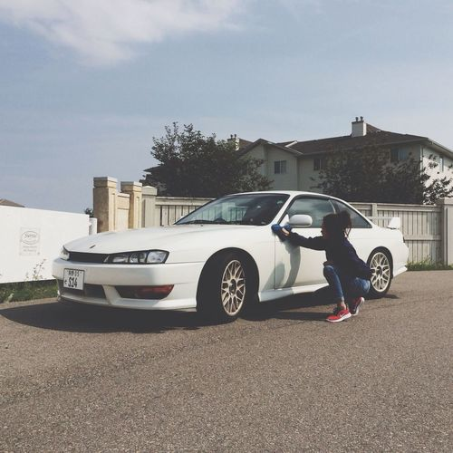 Helping bb clean his bb Nissan Silvia S14