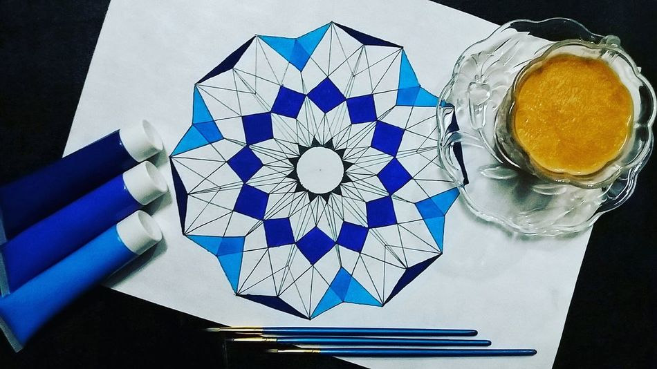 have some tea😊....... Geometry Geometric Patterns Geometric Shapes ArtWork Artistsofinstagram Artistsofpakistan Pakistan Colorsofpakistan Dawndotcom Etribune Myworkmyart Eyeemphoto Eyeemphotography Mobilephotography Blueisalwaysmyfavorite