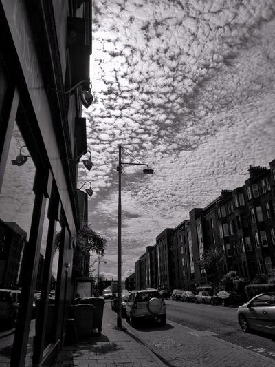 Tenements Clouds And Sky Blackandwhite Photography Sky No People Building Exterior Bloodylampposts