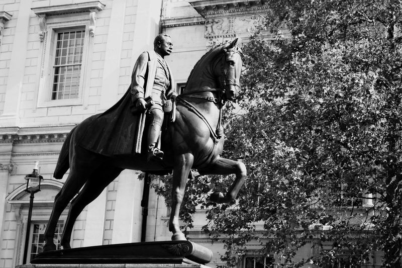 EyeEm Selects Horse Riding Built Structure Architecture Building Exterior Outdoors Horseback Riding Real People Day Men Domestic Animals Mammal Tree People Statue London Londonlife