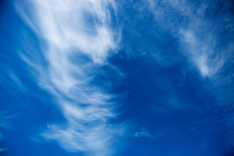 Abstract Backgrounds Beauty In Nature Blue Cloud - Sky Day Full Frame Nature No People Outdoors Scenics Sky Sky Only Space Textured  Wispy