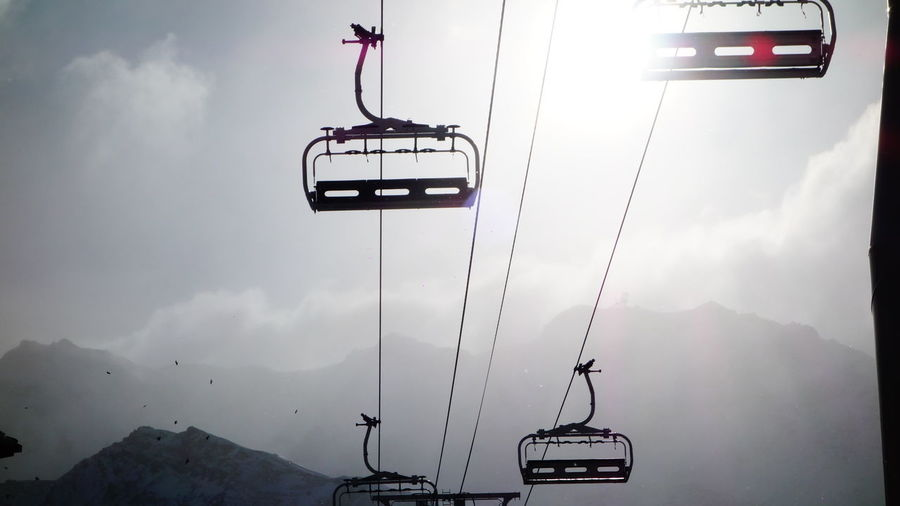 Alpen Alps Beauty In Nature Cable Cloud - Sky Exploring Exploring New Ground France Holiday Leisure Activity Leisure Time Low Angle View Mountain Overhead Cable Car Photography Ski Lift Storm Cloud Taking Photos Taking Pictures Travel Travel Destinations Traveling Vacations Val Thorens Wintersport