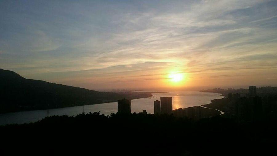 完賽後的夕陽特別美