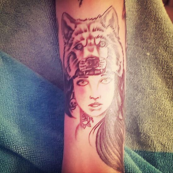 Tattoo Wolf Lady Amazing View Obsession