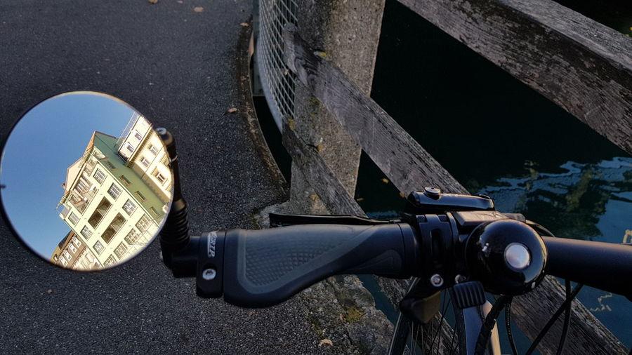 Spiegelbild Bicycle Fahrrad Fahrradtour Rückspiegel EyeEm Selects City Close-up Vehicle