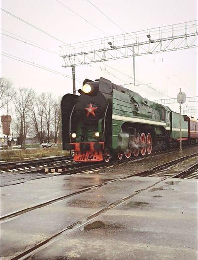 Lokomotive Transportation Old-fashioned Rail Transportation Steam Train Vintage Railroad Track Red Star
