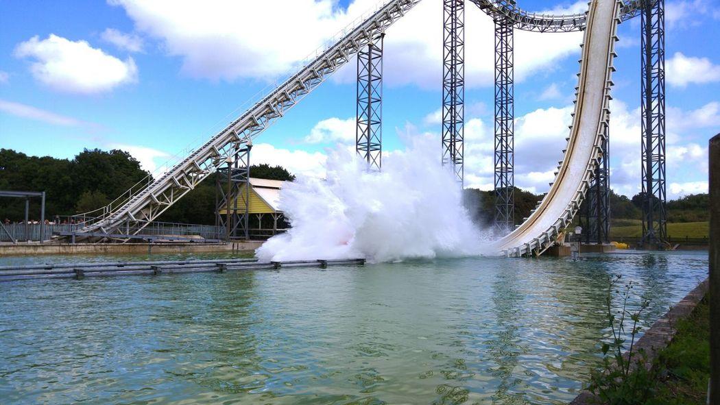 Splash down Water Built Structure Splashing Motion Blue Freeze Frame