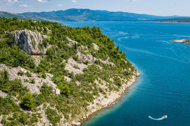Croatia Croatia ❤ Architecture Beach Beauty In Nature Blue Croatia ♡ Day High Angle View Idyllic Land Maslenica Mountain Nature No People Outdoors Plant Scenics - Nature Sea Sky Tranquil Scene Tranquility Tree Turquoise Colored Water