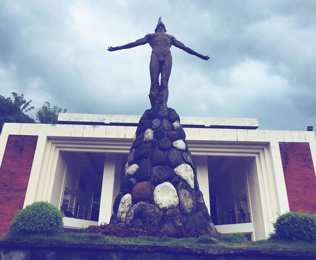 University of the Philippines, Oblation Sky Statue Cloud - Sky Human Representation Built Structure Architecture Sculpture Outdoors No People Tree Day War Memorial Grass Philippines Visayas Symbol Icon