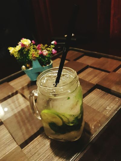 Flower Drink Table Freshness Drinking Straw Indoors  Refreshment No People Drinking Glass Close-up Day Mojito! Mojito! 🍹