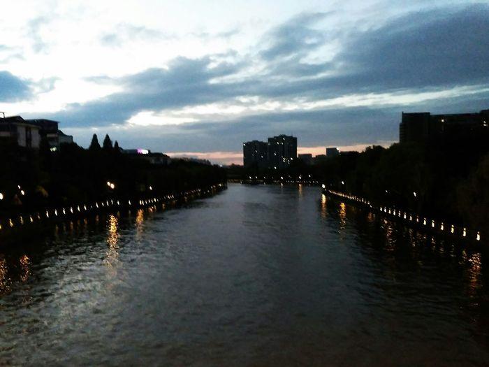 夕阳下的运河 First Eyeem Photo