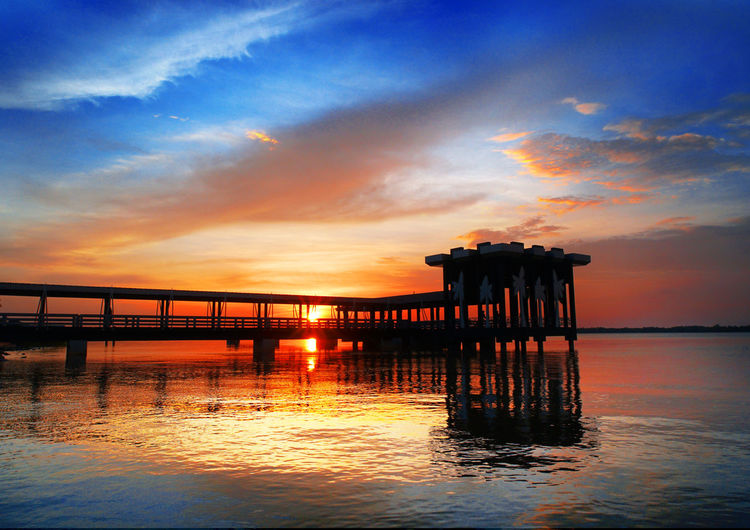sunset view at Bagan Datuk,Perak #Perak, #Malaysia #bagandatuk Architectural Column Architecture Beauty In Nature Built Structure Cloud - Sky Horizon Over Water Idyllic Nature No People Orange Color Outdoors Pier Reflection Scenics - Nature Sea Silhouette Sky Sunset Tranquil Scene Tranquility Water Waterfront Wooden Post