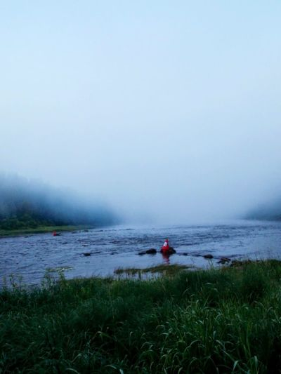 Russia Nature Fog River Forest Travel Traveling Summer Landscape Starting A Trip