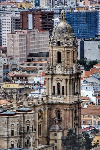 Architecture Religion Dome Building Exterior City Spirituality Travel Destinations Built Structure Place Of Worship Cityscape Malaga Malagacity Malaga Spain Malaga Cathedral Malaga Catedral Malaga Skyline Cathedral Skyline City Skyline Málaga,España Looking Down Façade Cathedrals  Cathedral Malaga Place Of Worship
