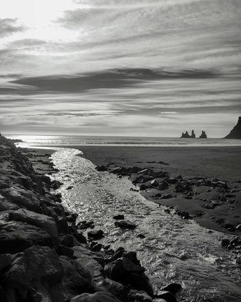 Iceland Izland Island Bnw Blackandwhite Photography Stream Ocean Atlantic Nature Silver  Perfectnature