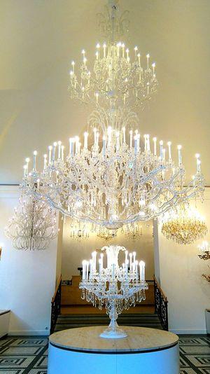 Lustre Cristal Grandiose Prague Republique Tchèque