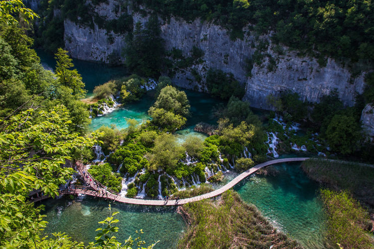 Walking path through Plitvice Lakes National Park in Croatia. Beauty In Nature Nature Non-urban Scene Outdoors Rock Scenics - Nature Tranquil Scene Tranquility Water