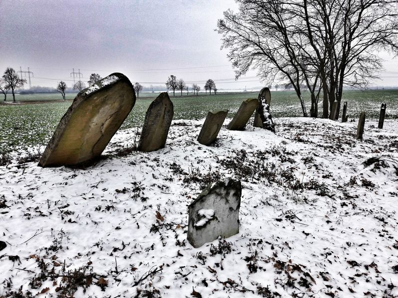 Cold Temperature Zidovsky Cintorin Jewish✡🕇☗ Old Jewish Cemetery Cementery Jewish Culture Jewish Cemetery Snow Winter No People Outdoors Day