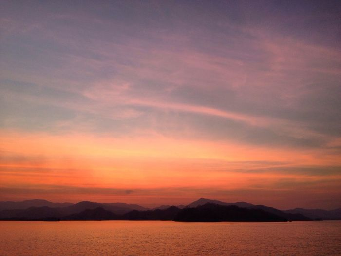 Nofilter After Sunset Sky After Sunset Landscape Pastel Colors Mountains Pacific Ocean Tambor Ferry Nicoya Peninsula Nicoya Landscapes With WhiteWall