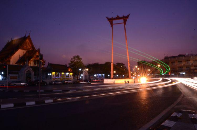 Thailand Bangkok Bangkok Thailand. Twilight Cityscape Sao Chingcha