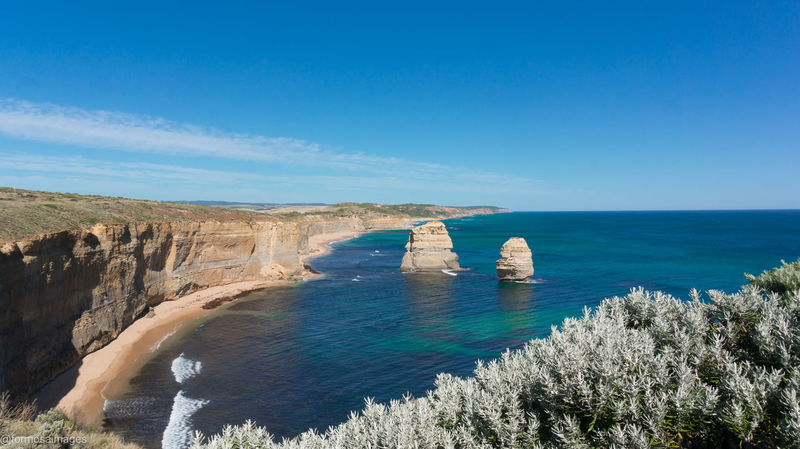 The magnificent scenery ont he Great Ocean Road in Victoria Beauty In Nature Blue Clear Sky Cliff Great Ocean Road Melbourne Ocean Outdoors Scenics Sea Sky Victoria Water