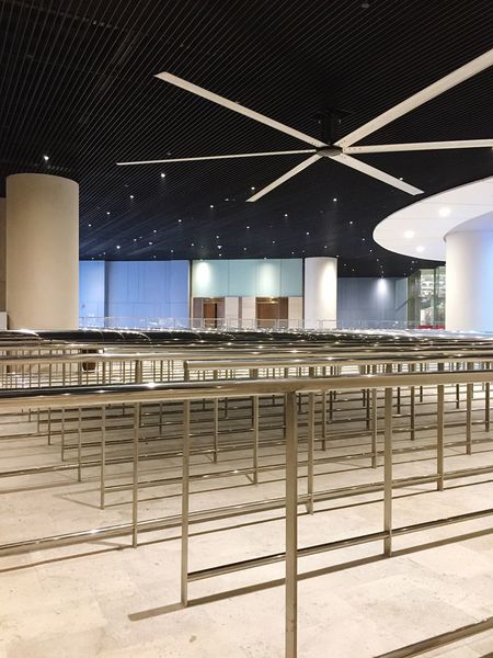 Queue Architecture Stainless Steel  Queueing Waiting Area Built Structure No People Indoors  Technology Ceiling Design Creativity Night Station Cable Car Station Texture Lines Texture And Surfaces The Architect - 2017 EyeEm Awards Galaxy