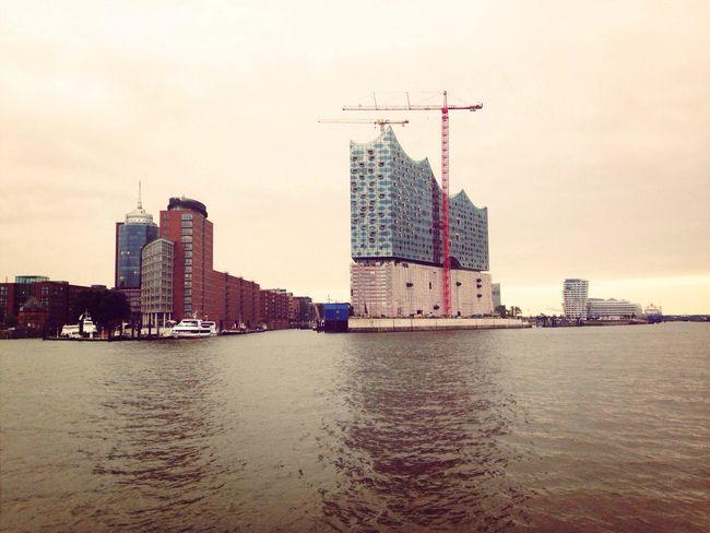 Tarde nublada en Elbphilharmonie Hamburg