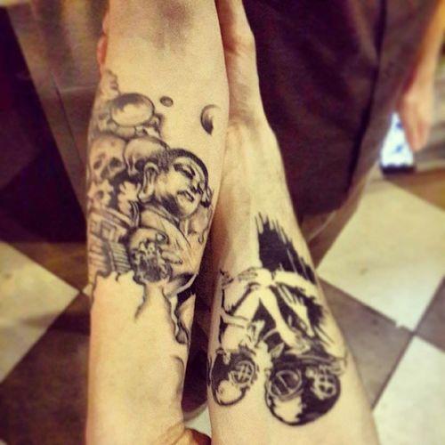 Tatoo тату татуировка череп будда буддизм cosmos космос гробница задетьзамертвое скафандр круто забиваемся ассаи assai любовь