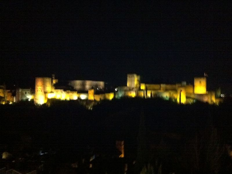 View Alhambra By Night Granada