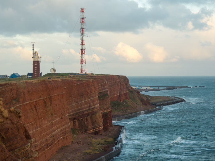 Helgoland Germany Island Coastline Atlantic Ocean Northsea Nordsee Nordseeküste Red Rock Sky Sea Water Tower Cloud - Sky Built Structure Architecture Nature Horizon Horizon Over Water Land Beauty In Nature No People Scenics - Nature Guidance Building Exterior Day Beach Outdoors Lighthouse