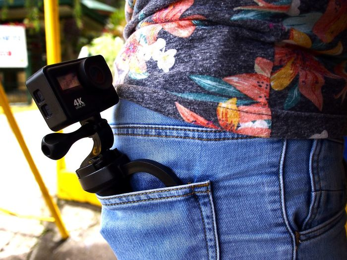 action camera in a back pocket of a person's pants Video Video Camera Action Camera Pants Trousers Pocket  Pocket Camera Photography Themes Technology Camera - Photographic Equipment Photographing Digital Single-lens Reflex Camera Wireless Technology Photographer Multi Colored Close-up Camera Screen Movie Camera Digital Camera Photographic Equipment Home Video Camera Lens - Optical Instrument