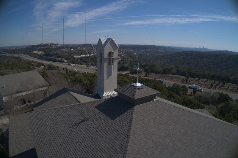 Austin Austin Texas Austin, TX Church Cross Scenic View Aerial Aerial Photography Aerial View Landscape Sky Steeple Towers