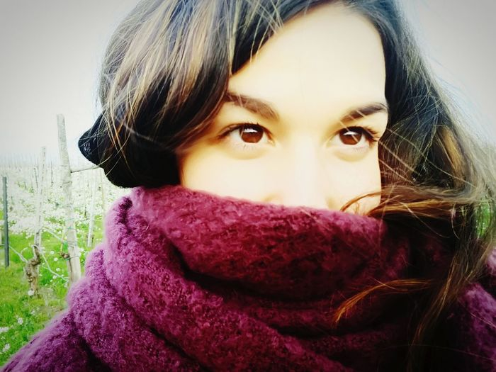 #Eyes #Woman Portrait Warm Clothing Headshot Smiling