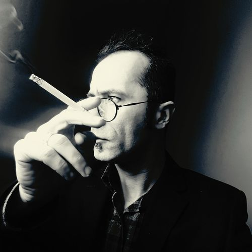 Self Portrait Selfie ✌ Portrait Sigara Smoking Instaturk One Man Only Only Men One Person Adults Only Eyeglasses  Adult Real People People Depression - Sadness Close-up Black Background Men Indoors  Human Body Part Young Adult