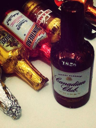 chocolate liqueurs ;) dark choc with genuine spirits in liquid centers ♥