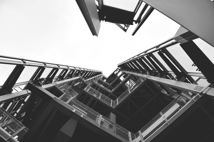 City Spiral Staircase Steel Sky Architecture Built Structure