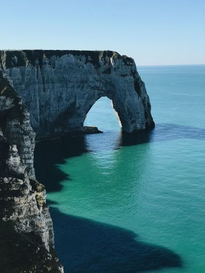 Bretagne Normandie Water Sea Rock Rock - Object Sky Rock Formation Solid Nature Arch Beauty In Nature Horizon Over Water Horizon Natural Arch Scenics - Nature Blue No People Land Tranquil Scene First Eyeem Photo