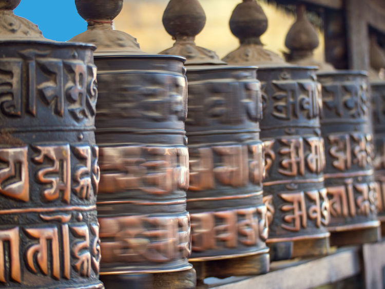 At the entrance of the monkey temple, Nepal Bhudha Mantras Nepal Nepal Travel Nepalese Prayer Wheels