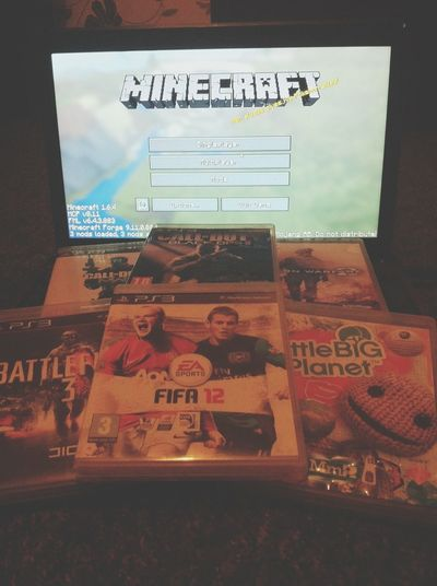 Games night with my bae. COD Battlefield 3 Minecraft Ps3 Play w/ us? Minecraft name: PresidentPikachu. PS3 name: ellykay70.