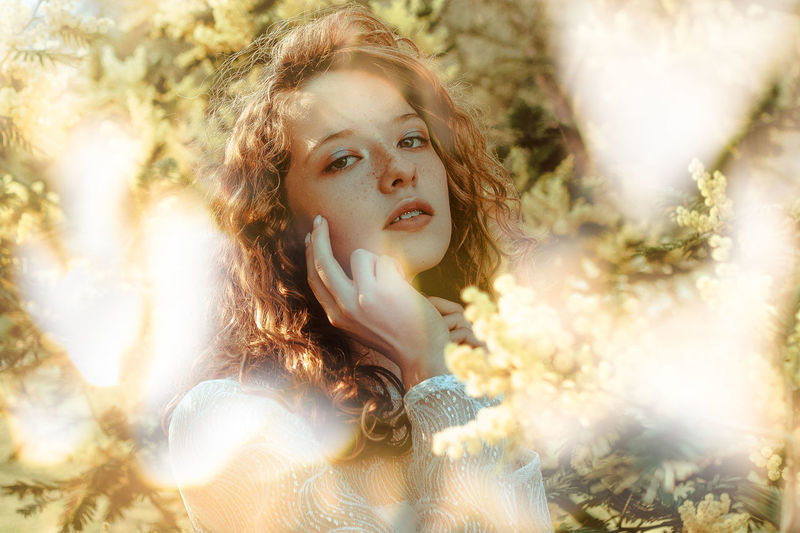 Another really old portrait :c Beauty Close-up Curly Hair Day Day Dreaming Headshot Leisure Activity Looking At Camera Nature One Person One Young Woman Only Outdoors People Portrait Real People Sunlight Tree Young Adult Young Women