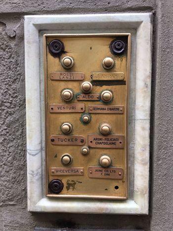 Doorbells Doorbells Names Architecture Brass Close-up Marble No People Push Button