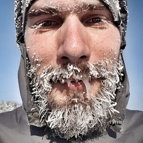 Iceman Sportsman ICEMAN  Lithuania Cold Winter ❄⛄ Human Face Portrait One Person Beard Beardlife