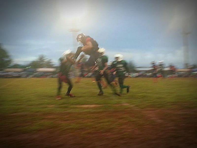 Blurred Motion Friday Night Lights Football