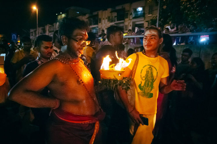 Burning Celebration Ceremony Decoration Enjoyment Fire Fire - Natural Phenomenon Flame Friendship Glowing Happiness Heat - Temperature Illuminated Lit Sacred Thaipusam2016 Togetherness Youth Of Today The Photojournalist - 2016 EyeEm Awards