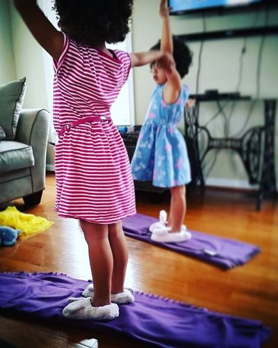 114/366 Practicing Yoga Childhood Childhoodunplugged Shootyourlife Unforgettableinstagram Picoftheday Project366