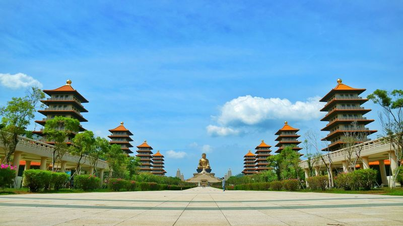 Fo guang shan buddha museum at kaohsiung taiwan Architecture Religion History Travel Destinations Outdoors Place Of Worship Building Exterior Beauty Tree Day Cultures No People Travel Sky Cloud - Sky Ancient Civilization Kaohsiung Taiwan Pagodas Buddha Holiday Tourism
